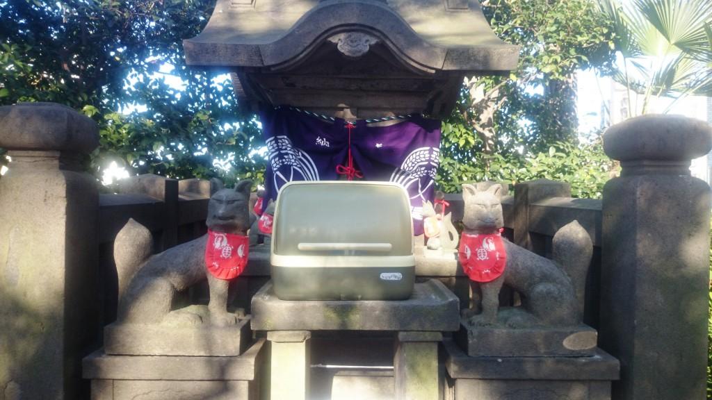 稲荷尊の像