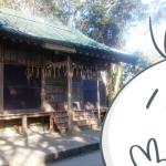 弟橘媛神社でピース