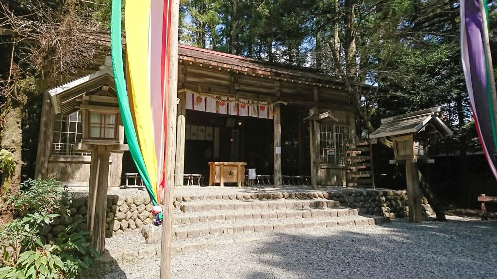 秋葉神社下社拝殿2