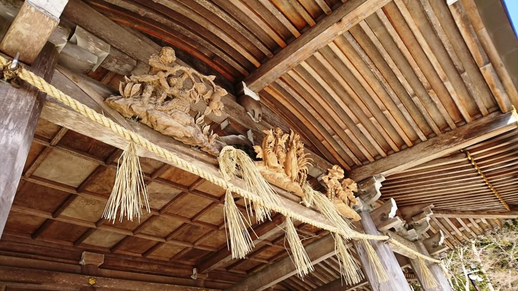 秋葉神社上社 本殿の干支彫刻