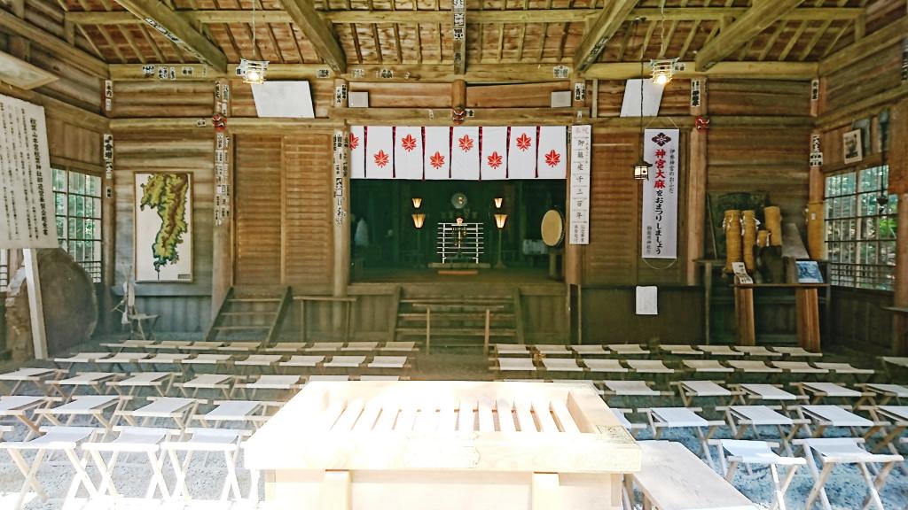 秋葉神社下社拝殿内部